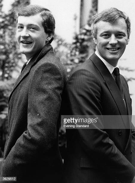 Snooker player Steve Davis with his promoter Barry Hearn. Original Publication: People Disc - HU0445