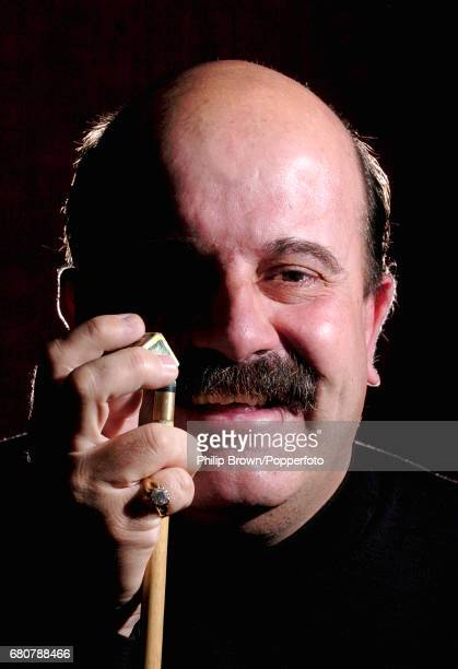 Snooker Player Willie Thorne of Great Britain posing for a photograph at The Belfry in Sutton Coldfield Birmingham on the 29th March 2004