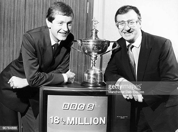 Snooker stars Steve Davis and Denis Taylor get together for the first time since the World Snooker final, at BBC studios. Irish snooker player Dennis...