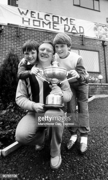 Snooker World Champion Dennis Taylor is welcomed home by sons Damian and Brendan. Irish snooker player Dennis Taylor became world champion after...