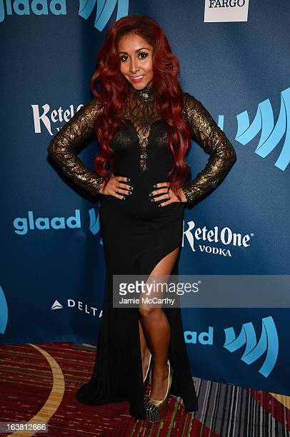 Snooki attends the 24th Annual GLAAD Media Awards on March 16 2013 in New York City