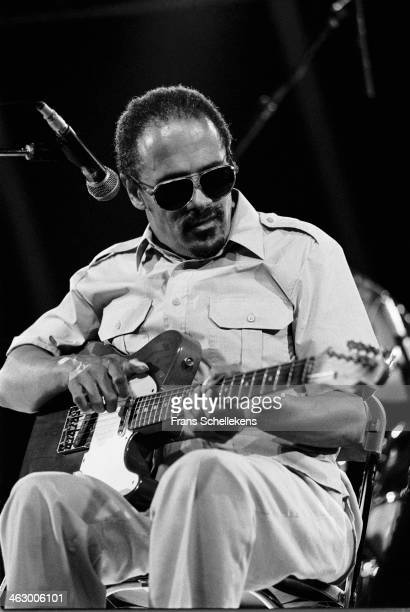 Snooks Eaglin, guitar-vocal, performs at the North Sea Jazz Festival in the Hague, the Netherlands on 13 July 1990.