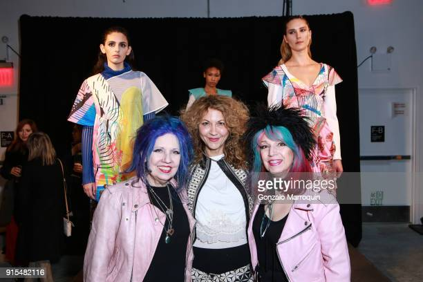 Snooky Brigitte Segura and Tish during the Epson's F/W 18 Digital Couture Panel and Presentation on February 6 2018 in New York City