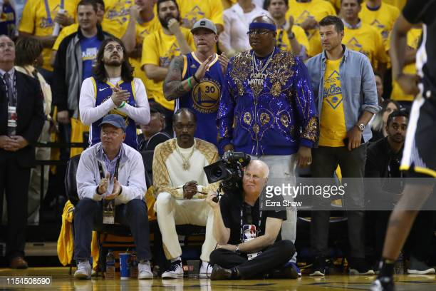 Snoop Dog attends Game Four of the 2019 NBA Finals between the Golden State Warriors and the Toronto Raptorsat ORACLE Arena on June 07 2019 in...