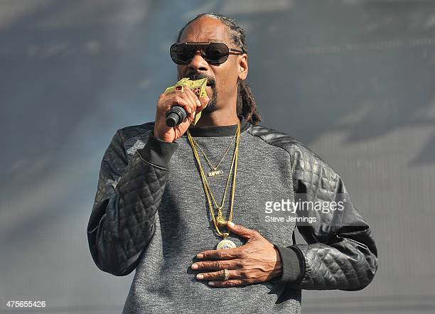 Snoop Dog performs on Day 3 of the 3rd Annual BottleRock Napa Valley Music Festival at Napa Valley Expo on May 31 2015 in Napa California