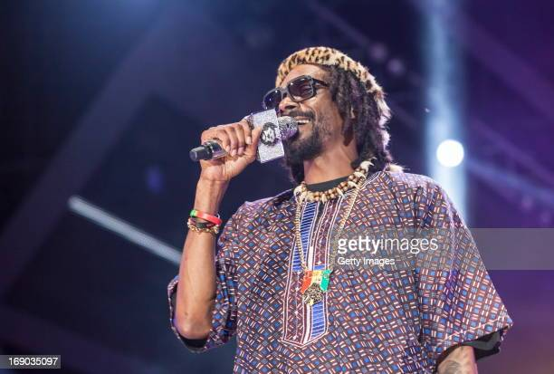 Snoop Dogg aka Snoop Lion performs at the MTV Africa All Stars Concert on May 18 2013 in Durban South Africa
