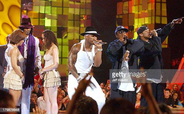 Snoop Dogg and 50 Cent during 2003 MTV Video Music Awards Show at Radio City Music Hall in New York City New York United States