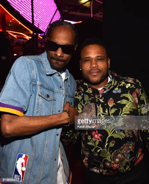 Snoop Dogg and Anthony Anderson attend the 2018 State Farm AllStar Saturday Night at Staples Center on February 17 2018 in Los Angeles California