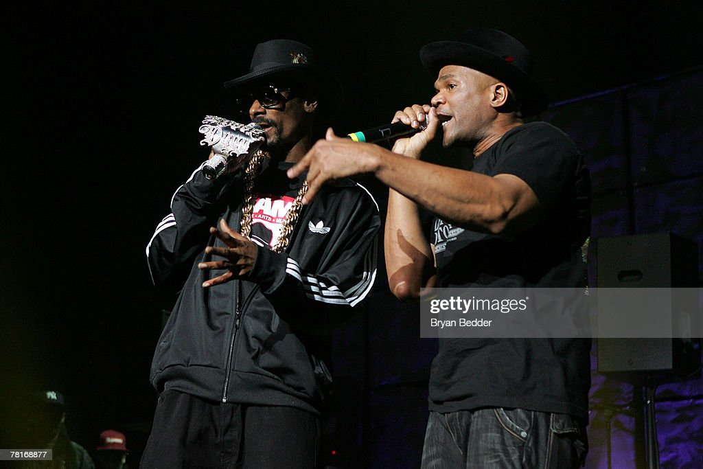 Snoop Dogg and Darryl McDaniels perform onstage at the 2007 J.A.M. awards and concert at Hammerstein Ballroom on November 29, 2007 in New York City.