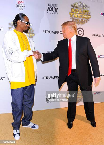 Snoop Dogg and Donald Trump attend the Comedy Central Roast Of Donald Trump at the Hammerstein Ballroom on March 9 2011 in New York City