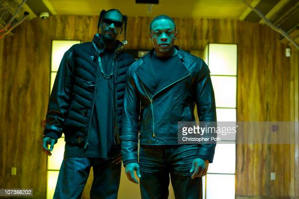 Snoop Dogg and Dr Dre during the Kush video shoot on November 17 2010 in Los Angeles California Kush is the first song to be released from Dr Dre's...