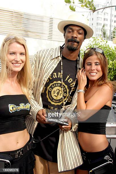 Snoop Dogg and Guest during 2005 MTV VMA John Singelton Party Hosted by DJ Biz Markie and Snoop Dogg at Sanctuary Hotel in Miami Florida United States