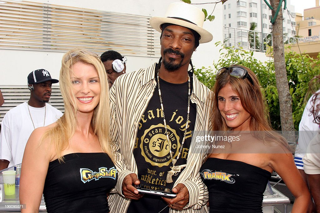 Snoop Dogg and Guest during 2005 MTV VMA - John Singelton Party Hosted by DJ Biz Markie and Snoop Dogg at Sanctuary Hotel in Miami, Florida, United States.