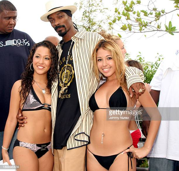 Snoop Dogg and Guests during 2005 MTV VMA John Singelton Party Hosted by DJ Biz Markie and Snoop Dogg at Sanctuary Hotel in Miami Florida United...