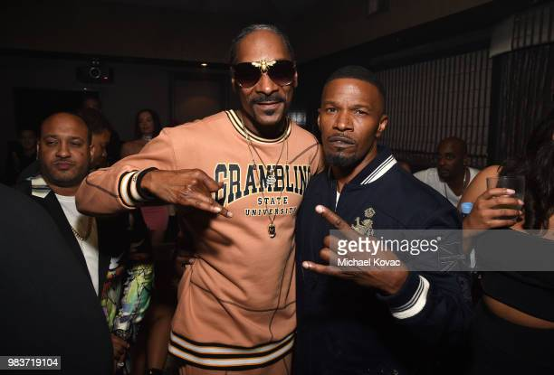 Snoop Dogg and Jamie Foxx attend the 2018 BET Awards After Party hosted by Grey Goose and Jamie Foxx on June 24, 2018 in Los Angeles, California.