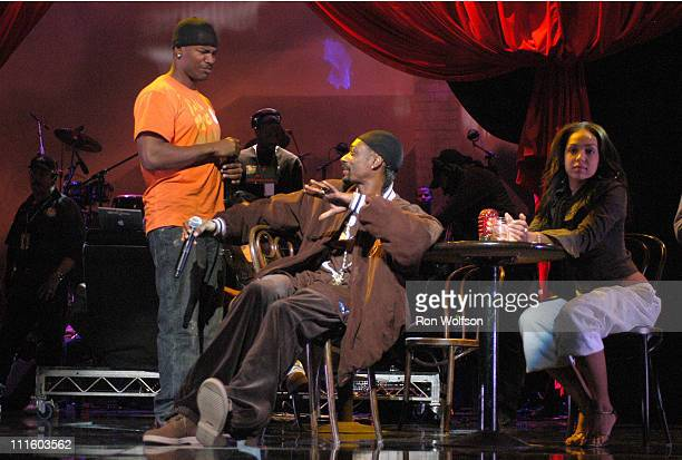 """Snoop Dogg and Jamie Foxx during Taping of the Jamie Foxx TV Special """"Unpredictable"""" - January 20, 2006 at Orpheum Theatre in Los Angeles,..."""