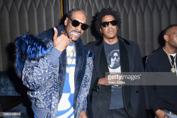 Snoop Dogg and JayZ attend the PUMA x Nipsey Hussle 2019 Grammy Nomination Party at The Peppermint Club on January 16 2019 in Los Angeles California
