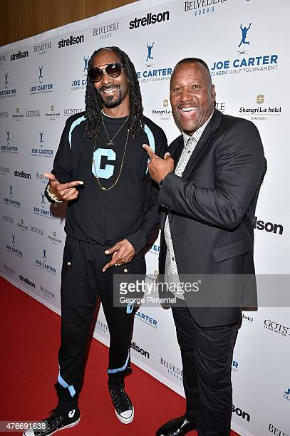 Snoop Dogg and Joe Carter attends Joe Carter Classic Celebrity Golf Tournament after party at ShangriLa Hotel on June 10 2015 in Toronto Canada