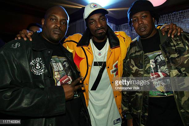 Snoop Dogg and Master P during Super Bowl XL PlayStation Game Over PostSuper Bowl Party at GEM Theater in Detroit Michigan United States
