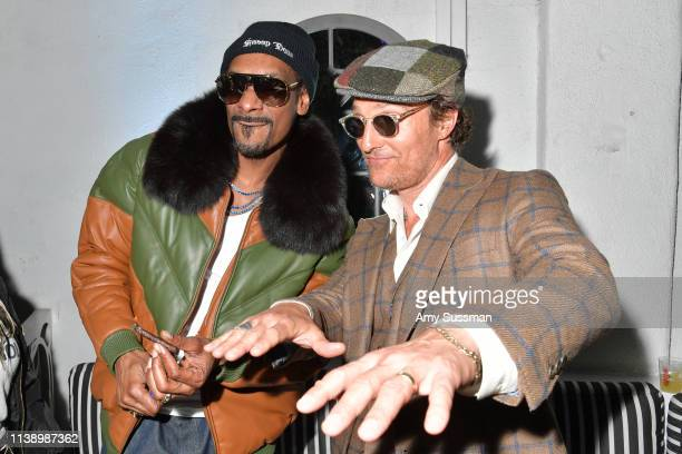 Snoop Dogg and Matthew McConaughey attend the after party of Neon And Vice Studio's The Beach Bum at ArcLight Hollywood on March 28 2019 in Hollywood...