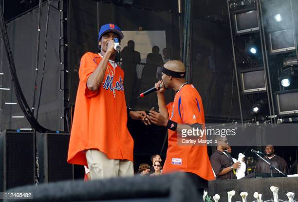 Snoop Dogg and Nate Dogg of 213 during Linkin Park's Projekt Revolution 2004 August 2 2004 at Jones Beach Theater in Wantagh New York United States