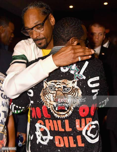 Snoop Dogg and Sean 'Diddy' Combs attend the Los Angeles Premiere of Apple Music's CAN'T STOP WON'T STOP A BAD BOY STORY at The WGA Theater on June...