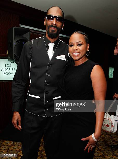 Snoop Dogg and Shante Broadus attend the 10th Annual Harold Pump Foundation Gala on August 12 2010 in Century City California