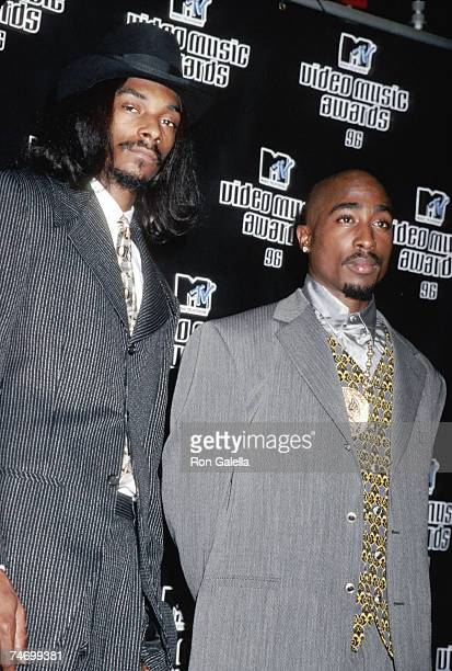 Snoop Dogg and Tupac Shakur at the Radio City Music Hall in New York City New York