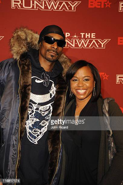 Snoop Dogg and wife Shante Broadus arrive at BET's Rip The Runway 2008 at Hammerstein Ballroom on February 21 2008 in New York