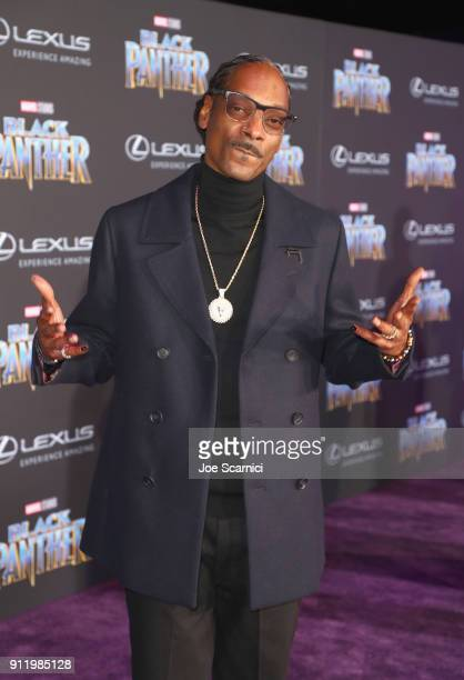 Snoop Dogg arrives for the World Premiere of Marvel Studios' Black Panther presented by Lexus at Dolby Theatre in Hollywood on January 29th