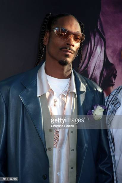 Snoop Dogg at the premiere of 'Catwoman' held at the Cinerama Dome in Hollywood Calif on July 19 2004