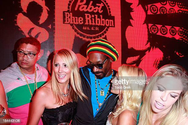 Snoop Dogg at the Snoop Dogg Presents Colt 45 Works Every Time at The Playboy Mansion Party with Evan and Daren Metropulos on October 19 2012 in...