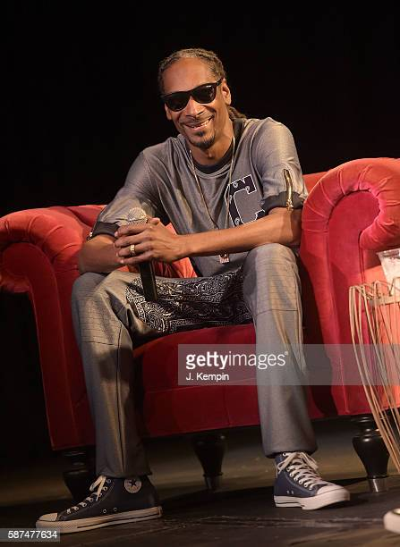 Snoop Dogg attends a conversation with Elliott Wilson at Highline Ballroom on August 8 2016 in New York City