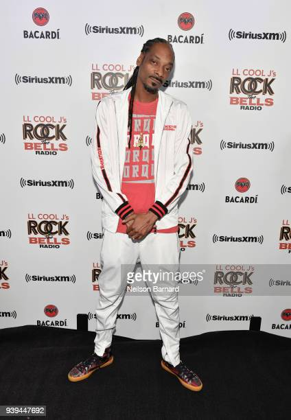 Snoop Dogg attends LL COOL J Celebrates the Launch of His Exclusive SiriusXM Channel Rock The Bells Radio at World on Wheels in Los Angeles on March...