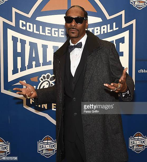 Snoop Dogg attends Snoop Son A Dad's Dream Atlanta Screening at College Football Hall of Fame on January 5 2015 in Atlanta Georgia