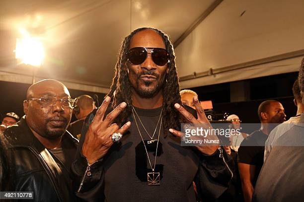 Snoop Dogg attends the 2015 BET Hip Hop Awards at Boisfeuillet Jones Atlanta Civic Center on October 9 in Atlanta Georgia