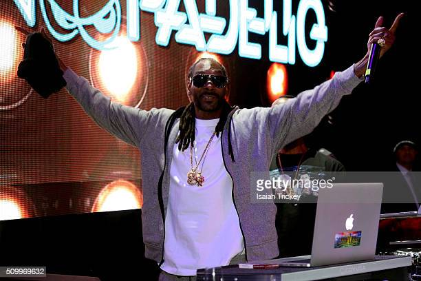 Snoop Dogg attends the 2016 NBA AllStar Weekend Maxim Party at Muzik on February 12 2016 in Toronto Canada