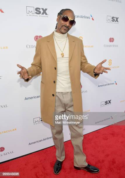 Snoop Dogg attends the 33rd Annual CedarsSinai Sports Spectacular at The Compound on July 15 2018 in Inglewood California