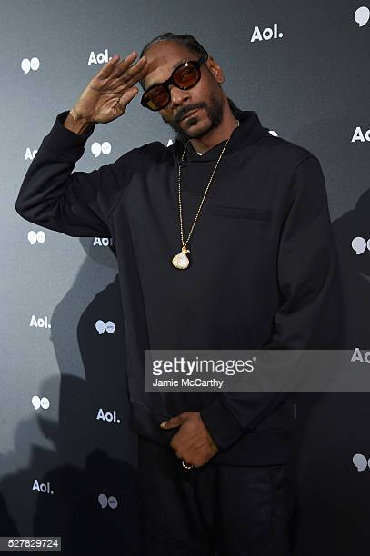 Snoop Dogg attends the AOL NewFront 2016 at Seaport District NYC on May 3 2016 in New York City