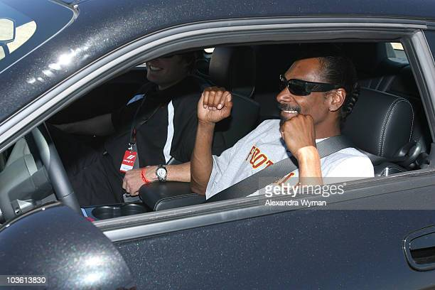 Snoop Dogg attends the Dodge Challenger Celebrity Drag Race at the Willow Springs Raceway on June 3 2008 in Rosamond California