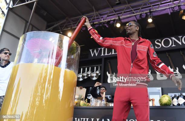 Snoop Dogg attends the Guiness World Record for largest Cocktail during the 2018 BottleRock Napa Valley at Napa Valley Expo on May 26 2018 in Napa...