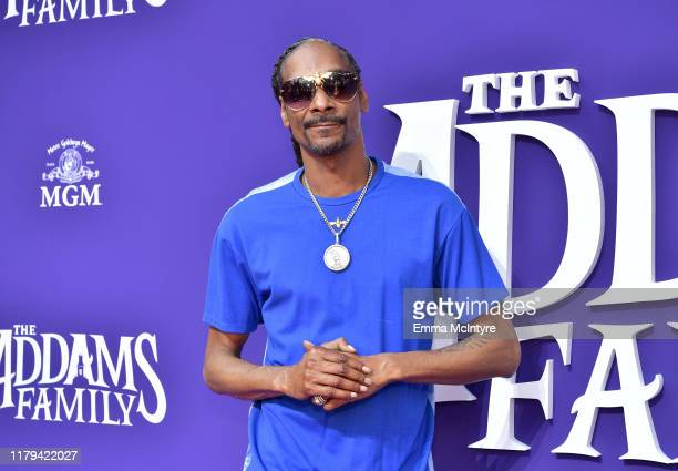 Snoop Dogg attends the Premiere of MGM's 'The Addams Family' at Westfield Century City AMC on October 06 2019 in Los Angeles California