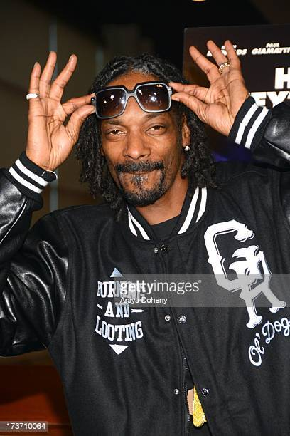 Snoop Dogg attends the 'Turbo' Los Angeles Special Screening at ArcLight Hollywood on July 16 2013 in Hollywood California