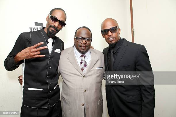 Snoop Dogg Cedric the Entertainer and Jamie Foxx attend the 10th Annual Harold Pump Foundation Gala on August 12 2010 in Century City California