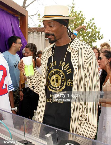 Snoop Dogg during 2005 MTV VMA John Singelton Party Hosted by DJ Biz Markie and Snoop Dogg at Sanctuary Hotel in Miami Florida United States