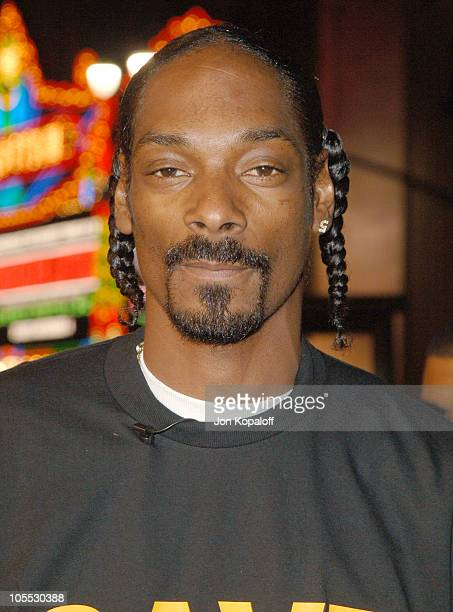 Snoop Dogg during 'Get Rich Or Die Tryin'' Los Angeles Premiere Arrivals at Grauman's Chinese Theater in Hollywood California United States