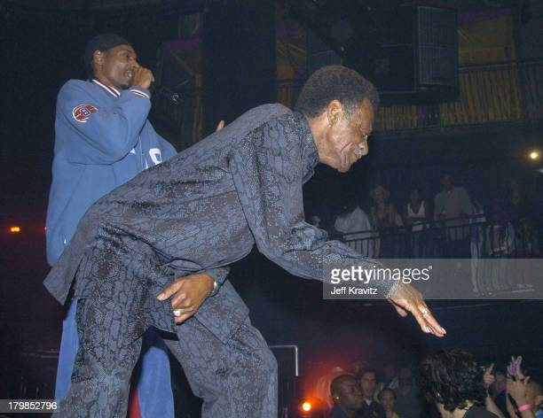 Snoop Dogg during Rock The Vote 2004 National Bus Tour Concert June 16 2004 at Avalon in Hollywood California United States