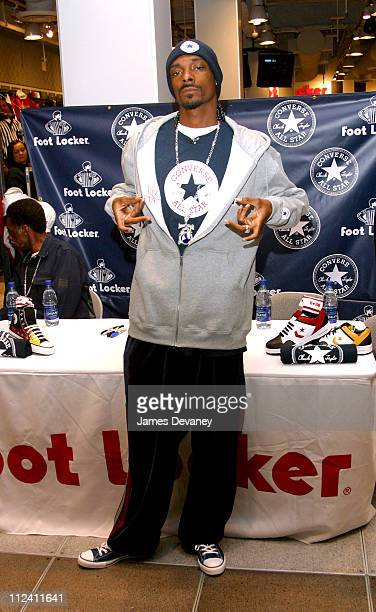 Snoop Dogg during Snoop Dogg Signing at Foot Locker at Foot Locker Times Square in New York City New York United States