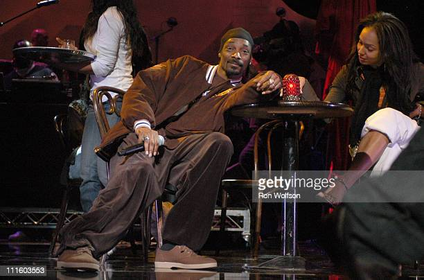 """Snoop Dogg during Taping of the Jamie Foxx TV Special """"Unpredictable"""" - January 20, 2006 at Orpheum Theatre in Los Angeles, California, United States."""