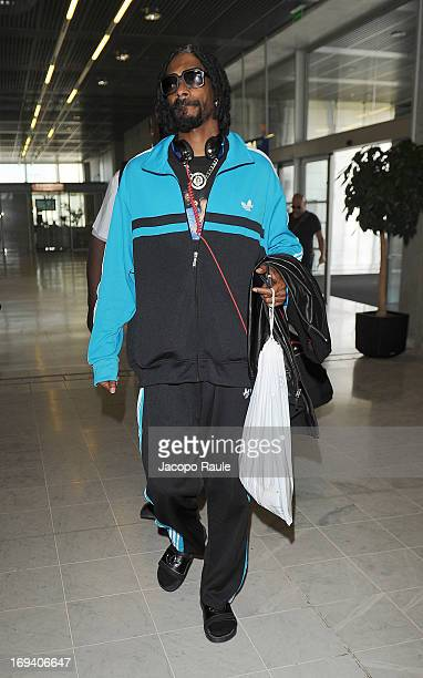 Snoop Dogg is seen arriving at Nice airport during The 66th Annual Cannes Film Festival on May 24 2013 in Nice France